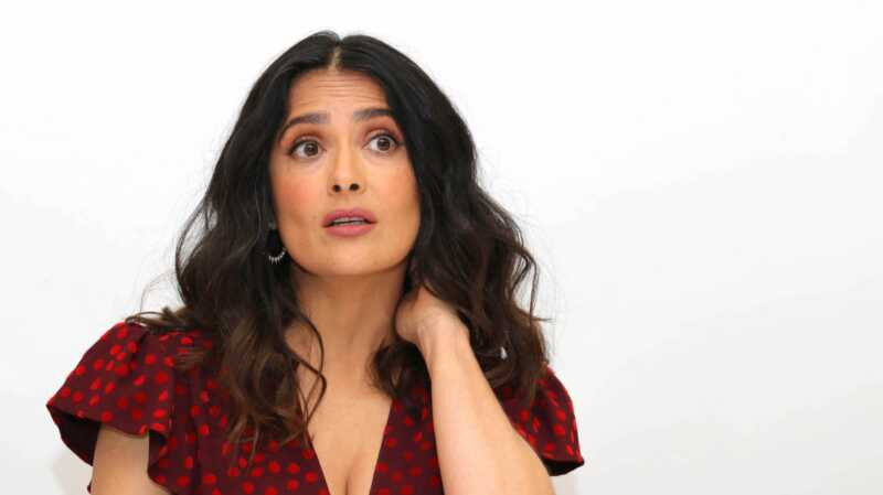 Salma hayek Donald Trump dating historia är vild